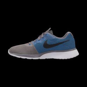 10 12 Nike blue gray Tanjun Racer Men's Sneakers